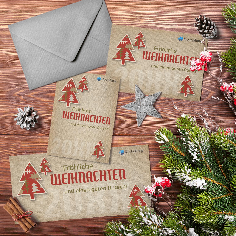 """Kartendesign-07 """"Weihnachtlicher-Scherenschnitt"""""""
