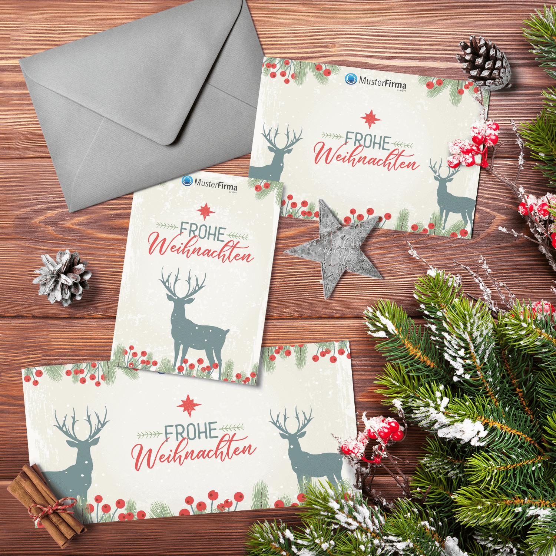 """Kartendesign-11 """"Santa's Reindeer"""""""