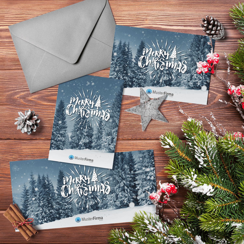 """Kartendesign-12 """"Weiße Weihnacht"""""""