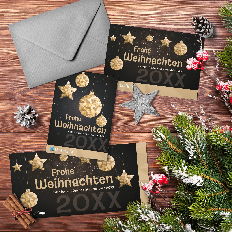 """Kartendesign-14 """"Goldener-Lichterglanz"""""""