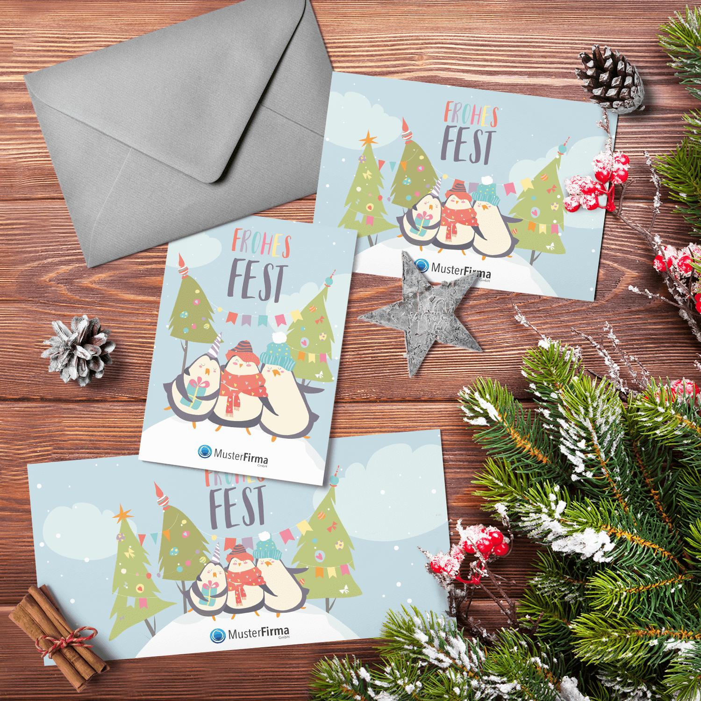 """Kartendesign-23 """"Weihnachten am Südpol"""""""