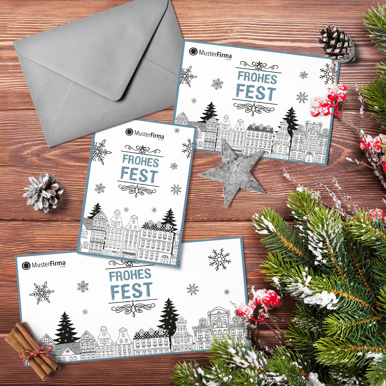 """Kartendesign-24 """"Weihnachtliches Städtchen"""""""
