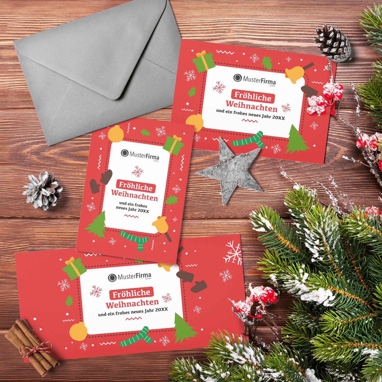 """Kartendesign-35 """"Weihnachtlich-eingerahmt"""""""