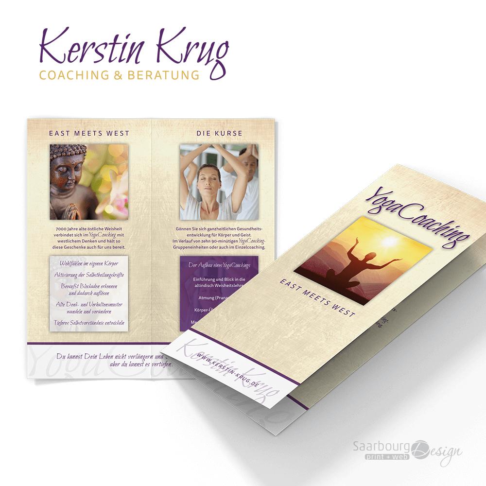 Darstellung des Yoga Flyers von Kerstin Krug Coaching & Beratung