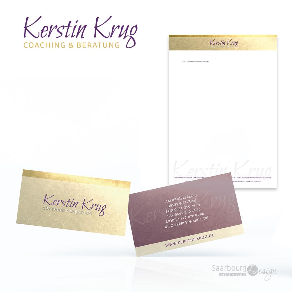 Darstellung des Geschäftsausstattung von Kerstin Krug Coaching & Beratung