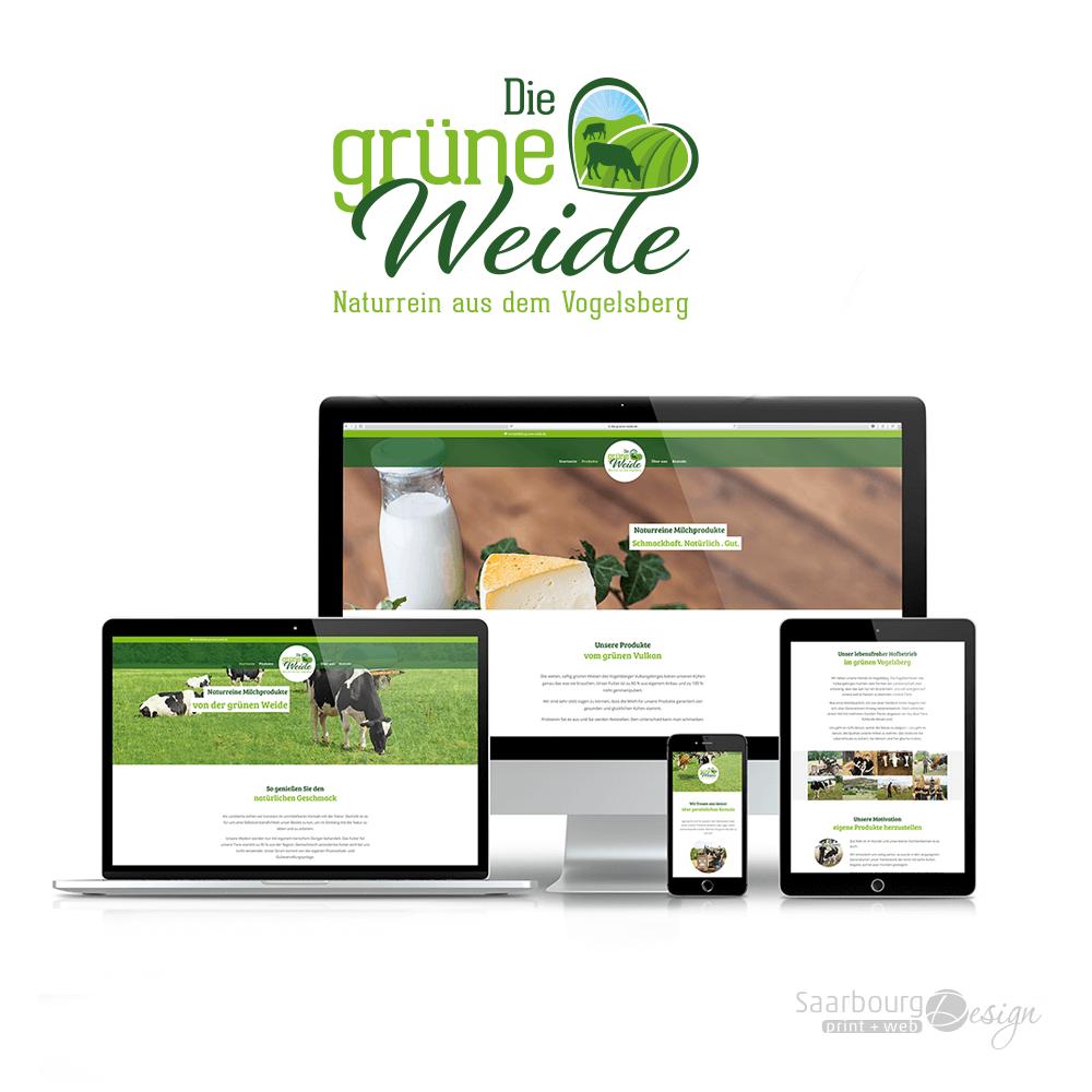 Darstellung der Webseite: www.die-grüne-weide.de