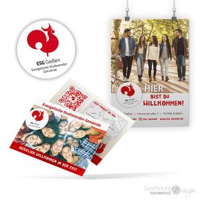Darstellung von Flyer und Plakat der ESG Gießen