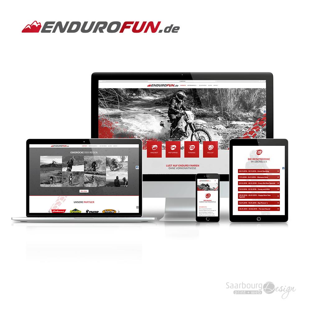 Darstellung der Webseite www.endurofun.de