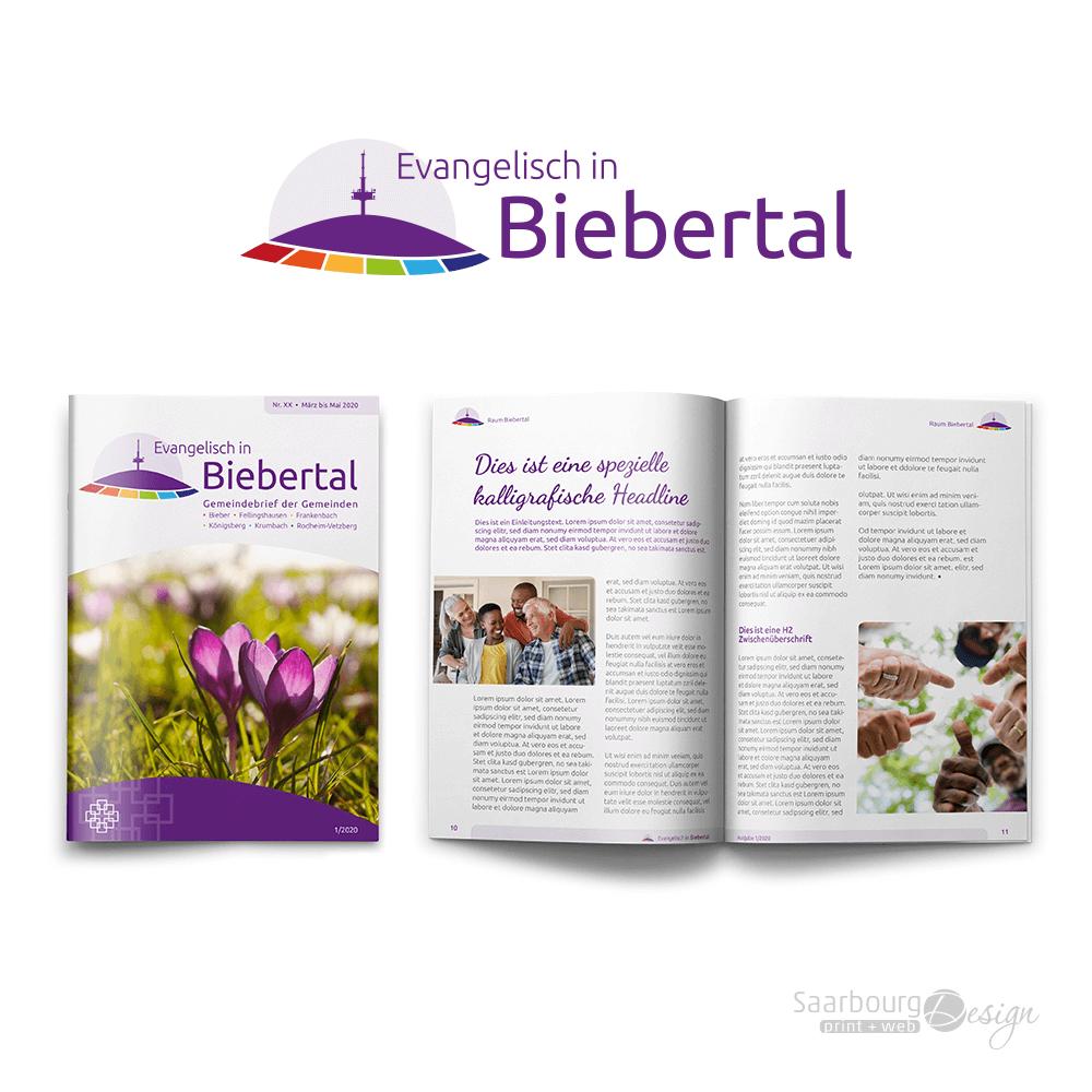 Darstellung des Gemeindebriefs Evangelisch in Biebertal