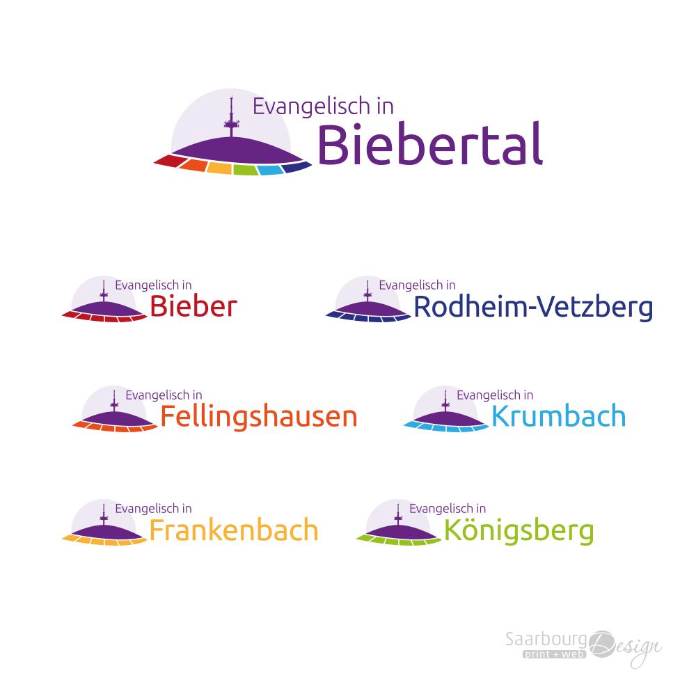 Darstellung der Logofamilie Evangelisch in Biebertal