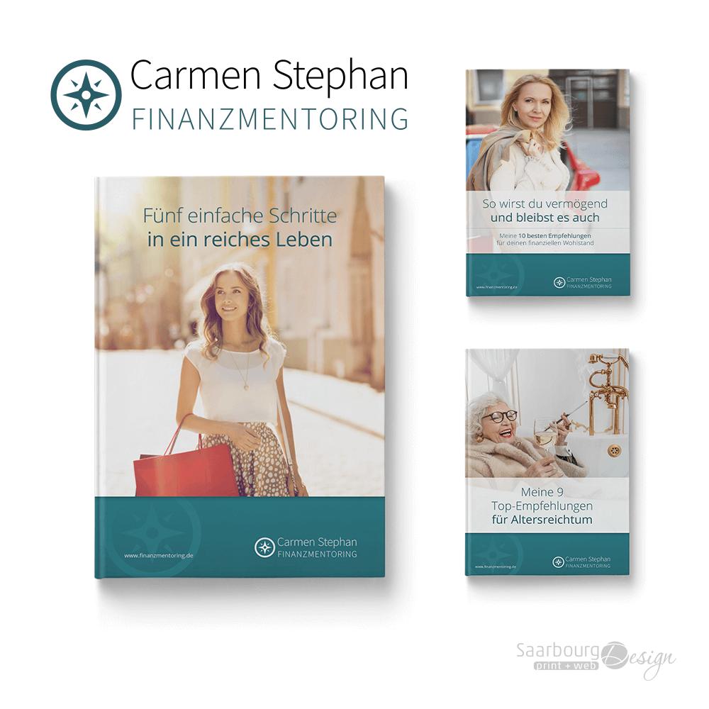Darstellung von 3 E-Book Covern von Carmen Stephan Finanzmentoring