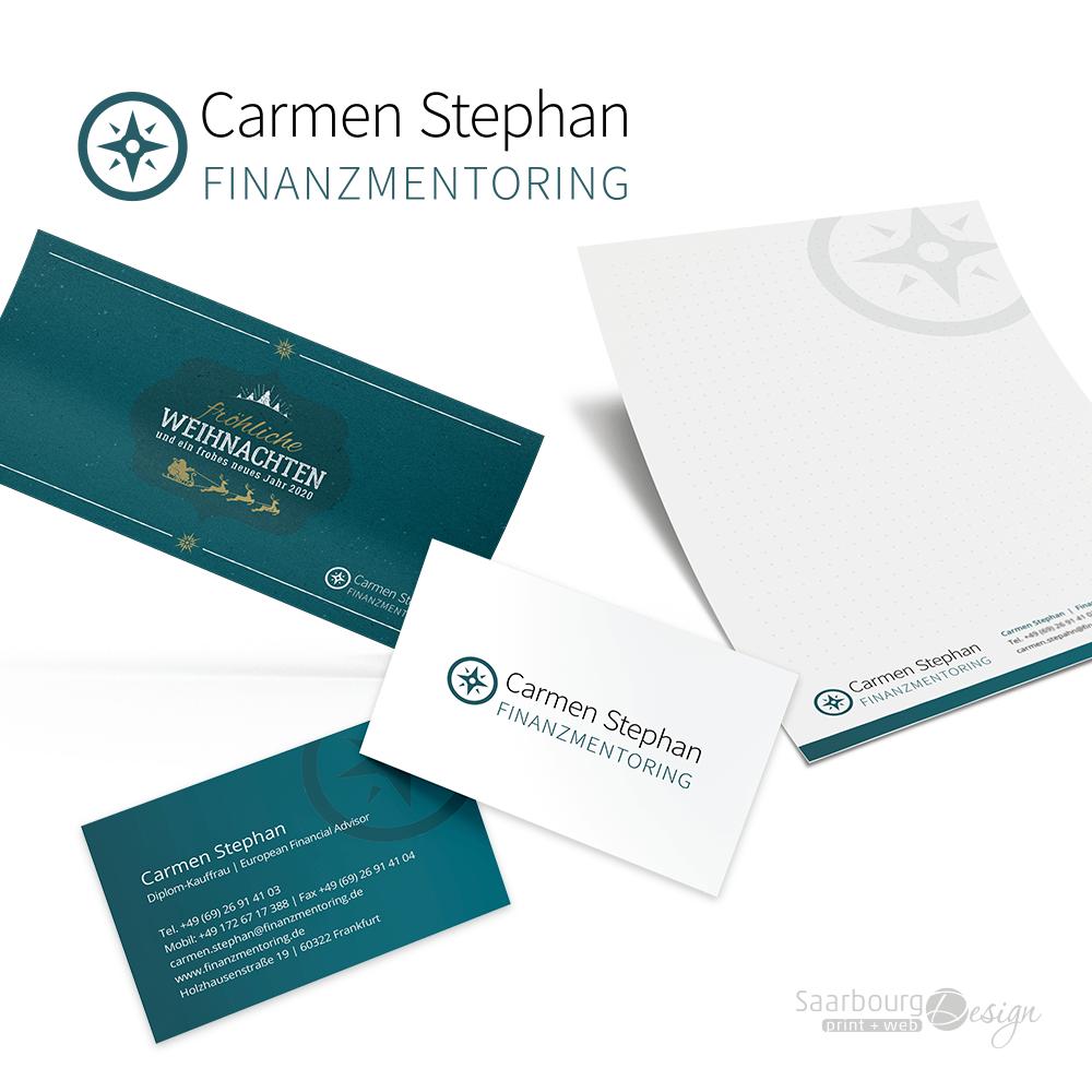 Darstellung der Geschäftsausstattung von Carmen Stephan Finanzmentoring