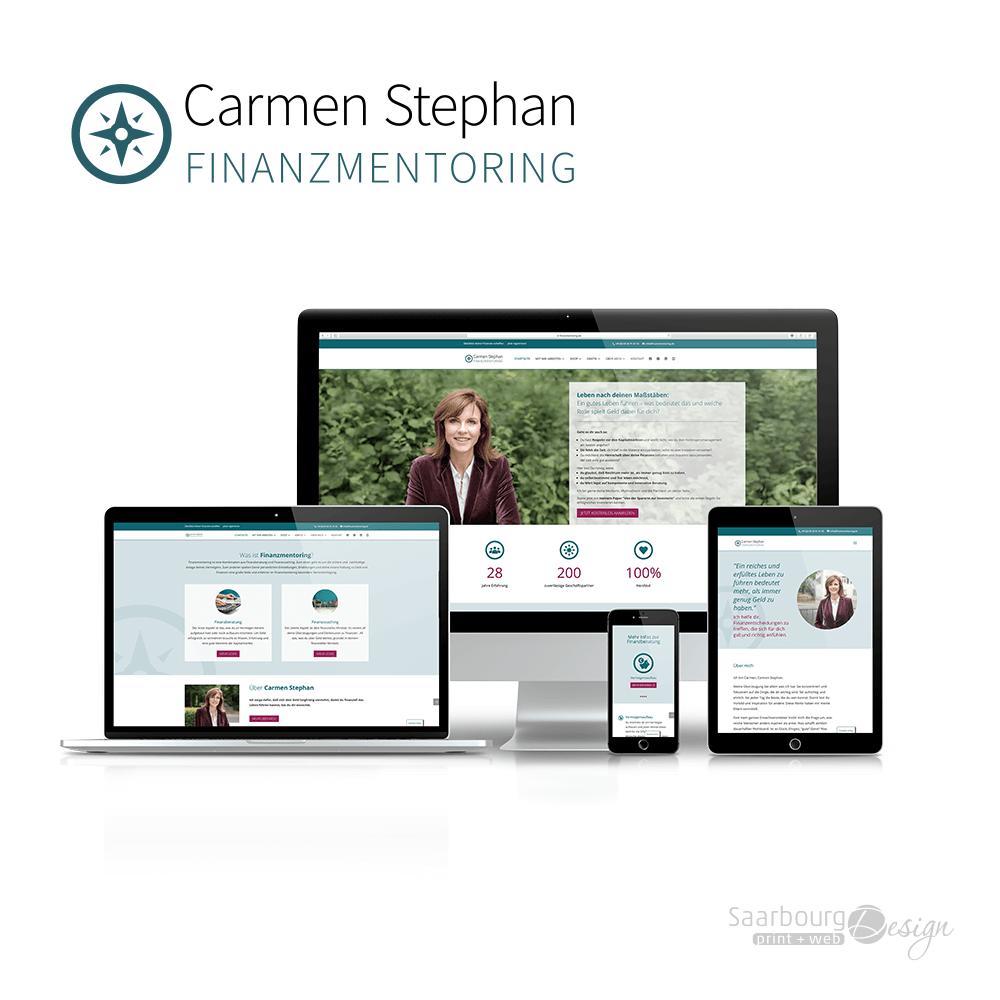 Darstellung der Webseite: www.finanzmentoring.de