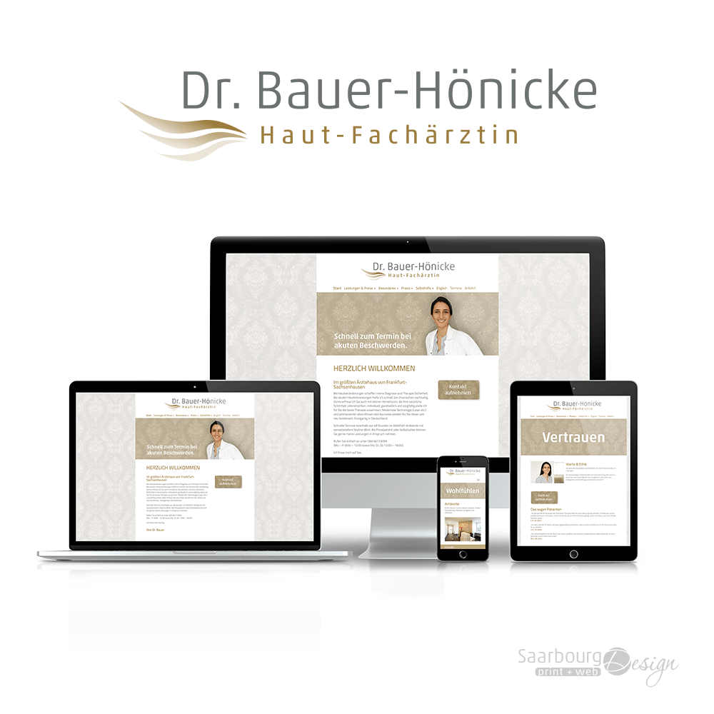 Darstellung der Webseite: www.hautaerztin-bauer.de