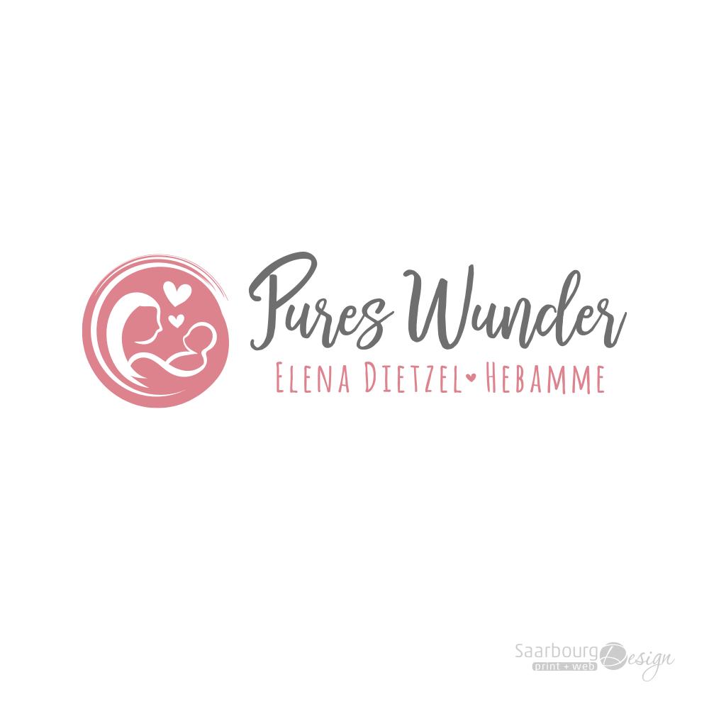 Darstellung des Logos Pures Wunder - Hebamme Elena Dietzel