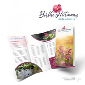 Darstellung des Infoflyers der Heilpraktikerin Birthe Heitmann