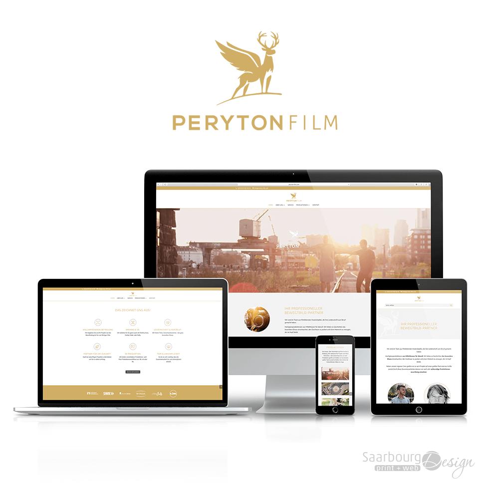Darstellung der Webseite: www.peryton-film.com