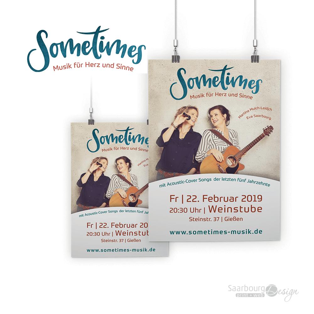 Darstellung der Konzert-Plakate des Musik-Duos Sometimes