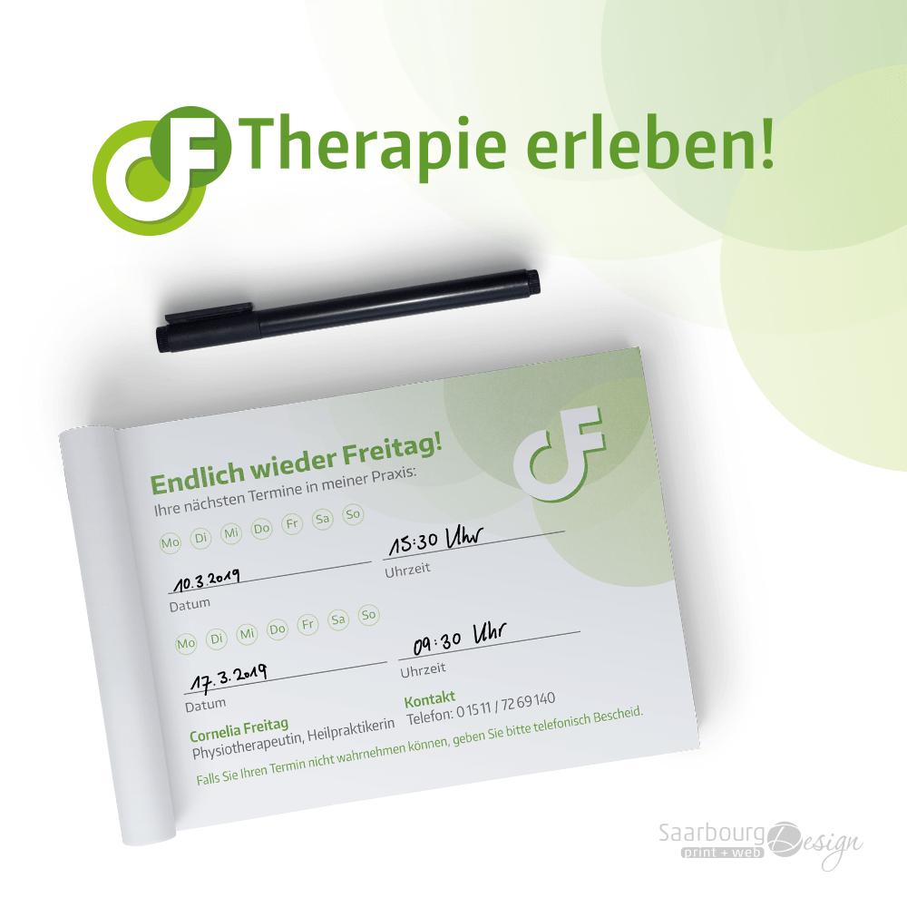 Darstellung des Terminblocks der Privatpraxis für Physiotherapie - Therapie erleben!