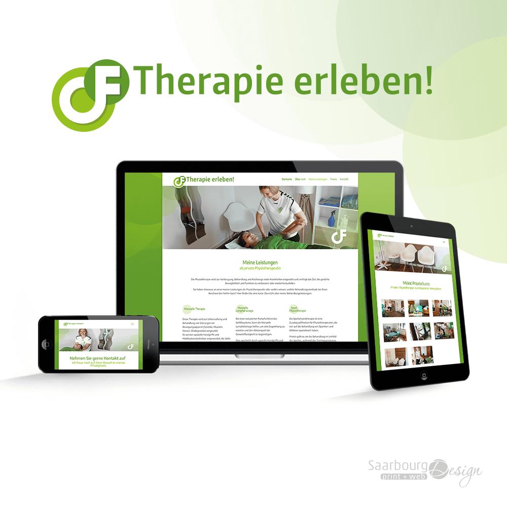 Darstellung der Webseite: www.therapie-erleben.de