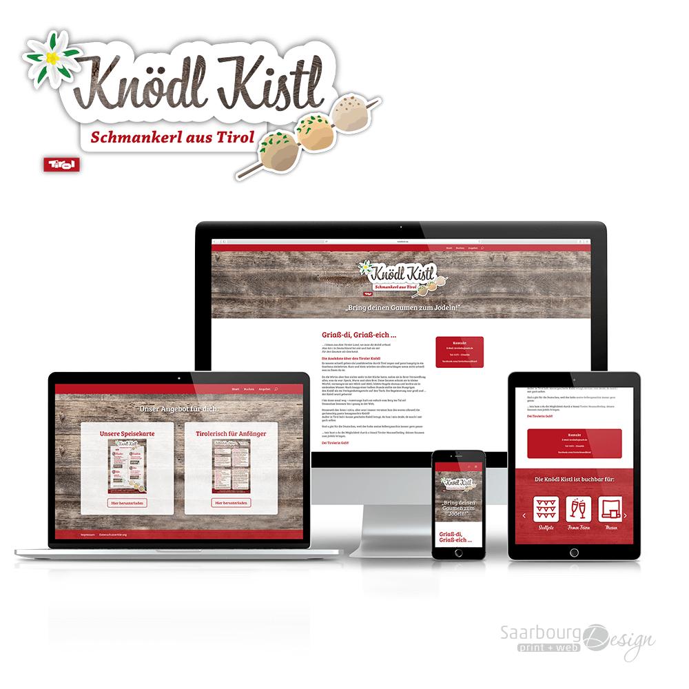 Darstellung der Webseite: www.knoedlkistl.de