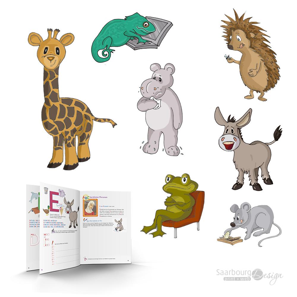 Darstellung der Illustrationen: ABC Lernbuch