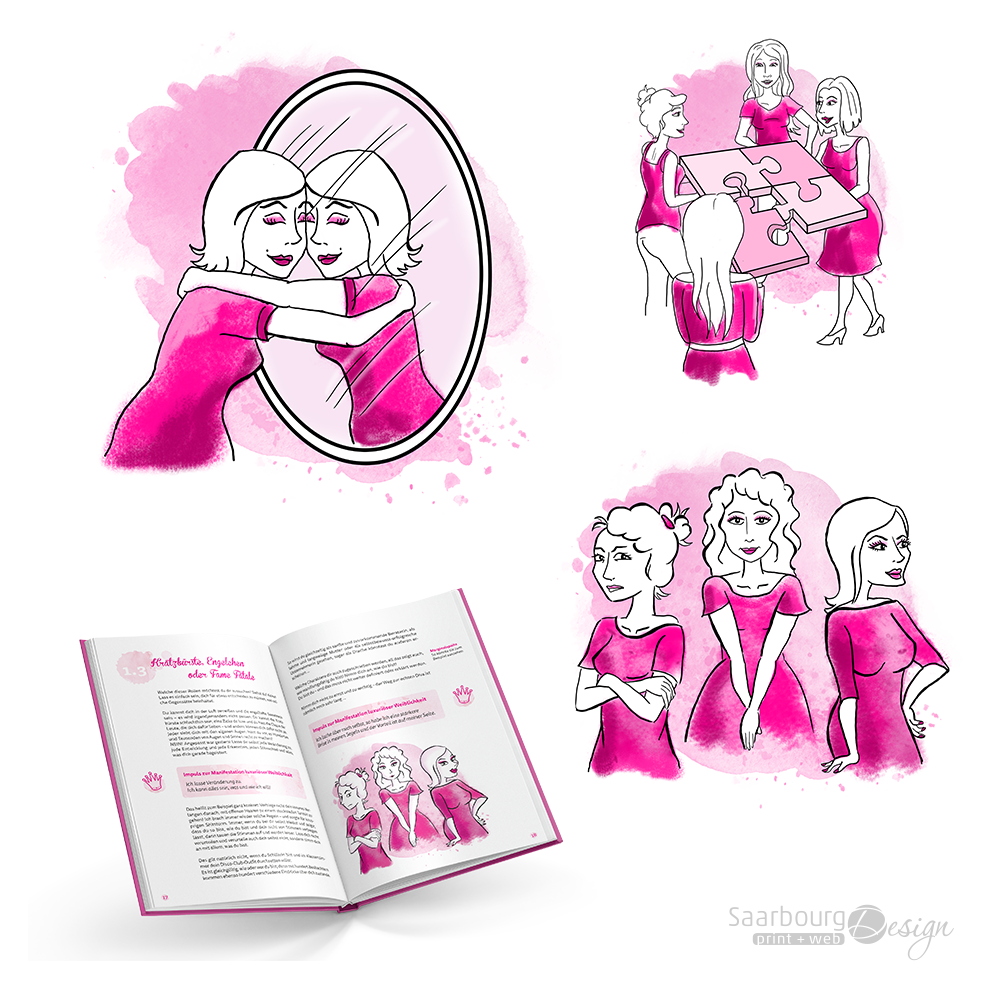 Darstellung der Illustrationen: Weibsbilder