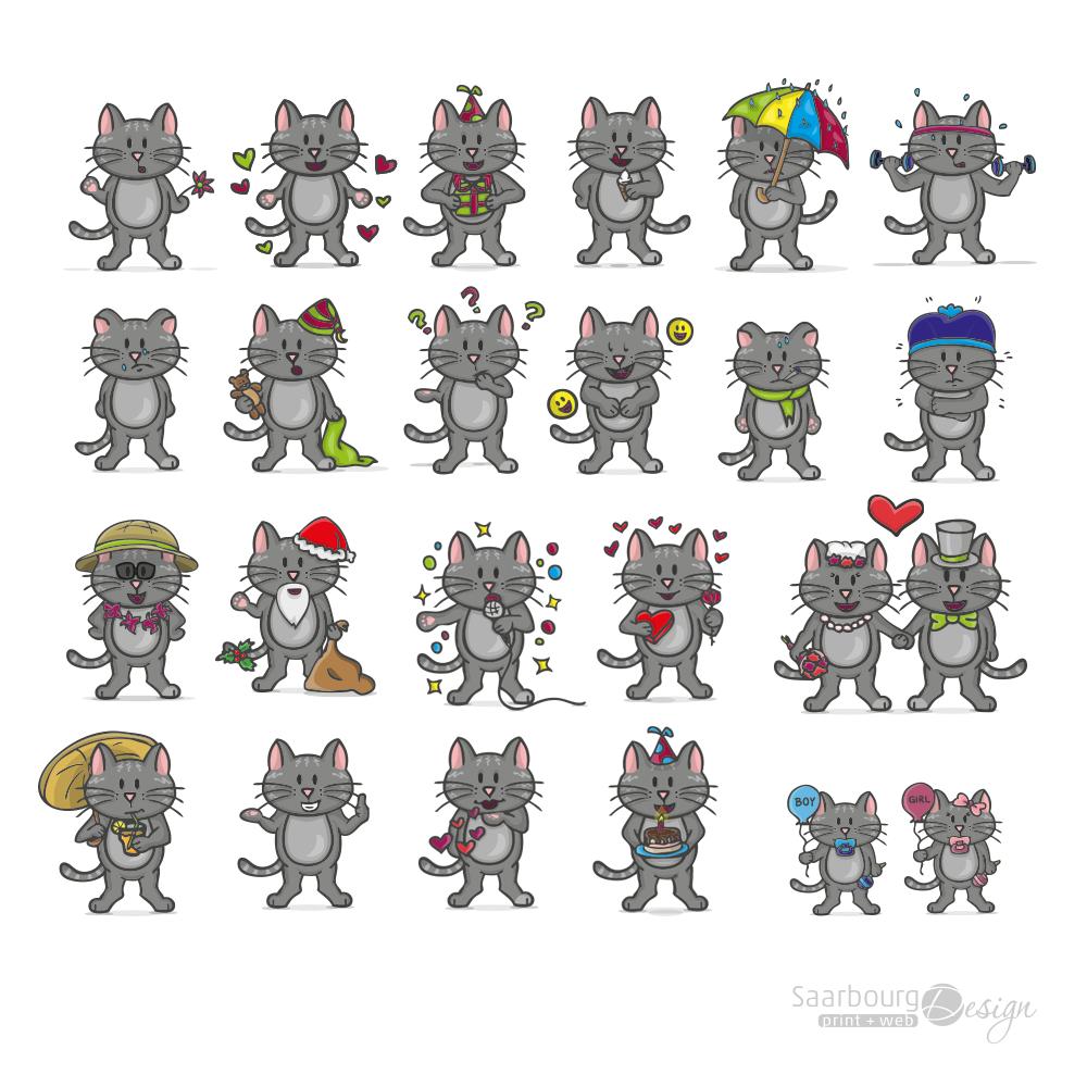 Charakterentwicklung: Tierillustration Katze