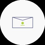 Logoanwendung auf Briefumschlägen