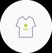Logoanwendung an Textilien