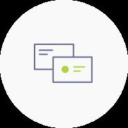 Logoanwendung auf Visitenkarten