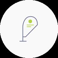 Logoanwendung an Werbetechnik